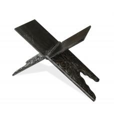 Ahşap Eskitme Model işlemeli Rahle Gümüş Renk 60 CM