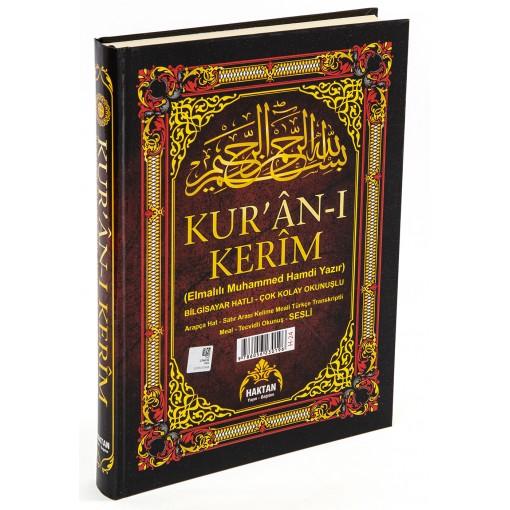 Haktan Yayınları Ortaboy 5'li (Beş) Özellikli Arapça,Türkçe Okunuşlu,Tecvidli,Mealli ve Kelime Mealli Siyah Renk