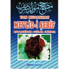 Tam Musahhah Mevlid-i Şerif, 17x24 cm. osmanlıca-türkçe, Alem