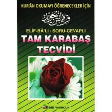 Tam Karabaş Tecvidi, büyük boy, osmanlıca-türkçe, Alem