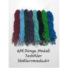 6ML Dünya Modeli Tesbih Deste halinde