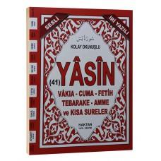 Haktan Yayınları Çanta boy 41 Yasin-i şerif Sadece ARAPÇA İRİ YAZILI Kırmızı