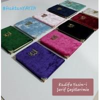 Çanta boy Kadife kaplı Karşılıklı Mealli Türkçe Okunuşlu 128 sayfa Yasin-i Şerif