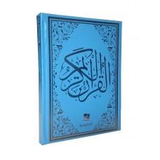 Kur'an-ı kerim Bilgisayar Hatlı Orta Boy Mavi Renk